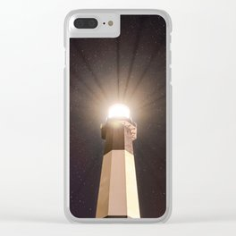 Tybee Lighthouse Under the Stars Clear iPhone Case