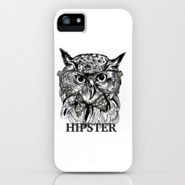 Hispter owl background iPhone Case