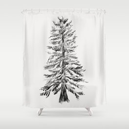Cedar Tree Shower Curtain