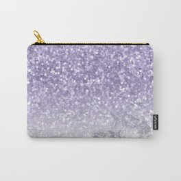 Unicorn Purple Glitter Marble Carry-All Pouch