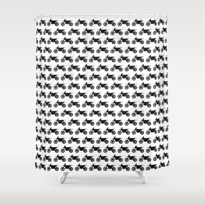 Dirt Bikes Shower Curtain By Thinlinetextiles