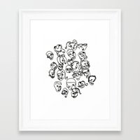 talking heads Framed Art Prints featuring Talking Heads by Melanie Carter