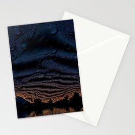 Metalized Arizona Mountains with Water Effect Stationery Cards