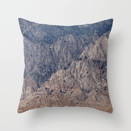 Mountain Layers (Eastern Sierra Nevadas, California) Throw Pillow