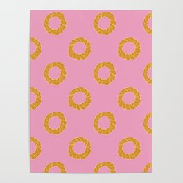 Pastel Pastry Pattern Poster