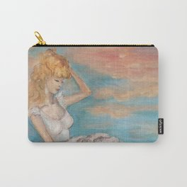 could we be friends? Bffs bestfriends mermaid and beautiful lady boat on the ocean at sunset Carry-All Pouch