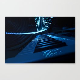 Blue Keys Canvas Print