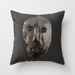Platinum Mask Throw Pillow