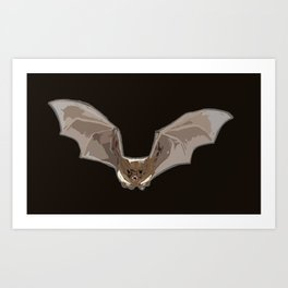 Abstract Bat Art Print