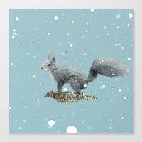 squirrel Canvas Prints featuring SQuirrel by Monika Strigel