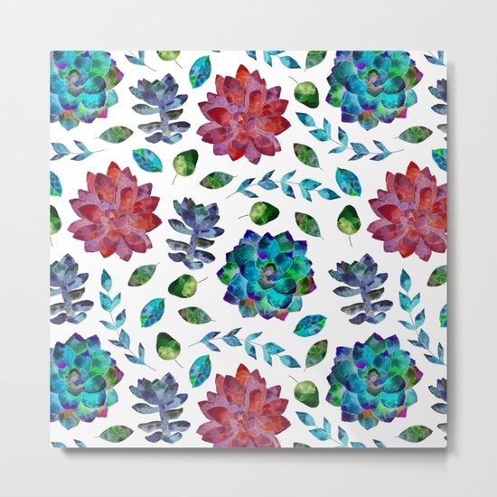 Vibrant Floral Garden Metal Print