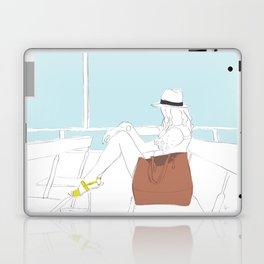 Fashion Girl on the Ferry Laptop & iPad Skin