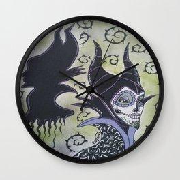 Maleficent Sugar Skull Wall Clock
