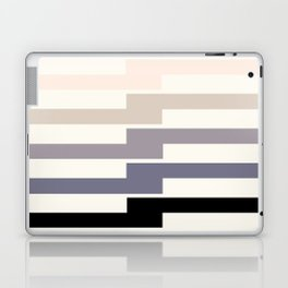Grey Taupe Lightning Bolt Zig Zag Geometric Pattern Minimalist Zen Art Laptop & iPad Skin