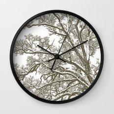 Foggy Winter Tree Wall Clock