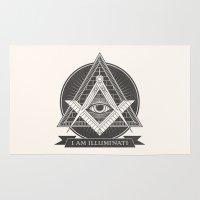 illuminati Area & Throw Rugs featuring I am illuminati by Daniela Dix