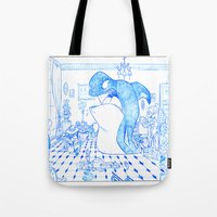 killer whale Tote Bags featuring Killer Whale by Tayfun Sezer