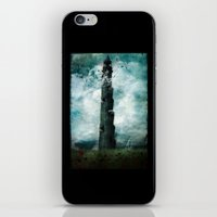 dark tower iPhone & iPod Skins featuring The Dark Tower by Sybille Sterk