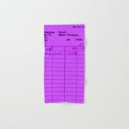 Library Card 797 Purple Hand & Bath Towel