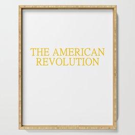 Ancestor Fought American Revolution US History Serving Tray