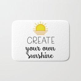 Create your own sunshine Bath Mat