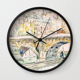 Paris Sketch Vintage 2 Wall Clock