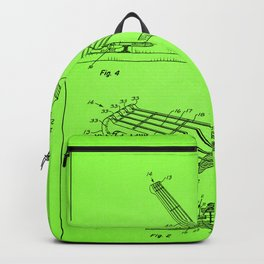 Guitar Patent - mint green Backpack