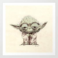 yoda Art Prints featuring Yoda by Seo Kim