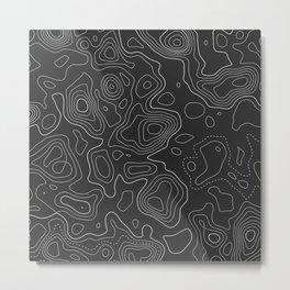Topographic Map 02C Metal Print