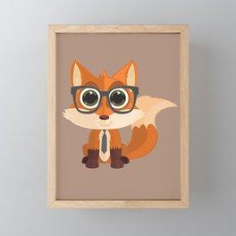 Fox Nerd Framed Mini Art Print