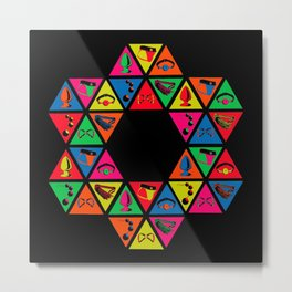 Series Too: 6 x 6 Honeycomb Metal Print