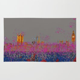 The Siege of the Parliament in May - shoes stories Rug