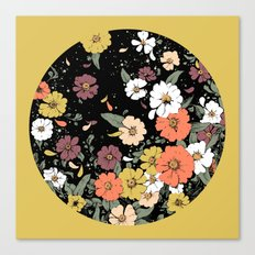 Falling Daisies Canvas Print