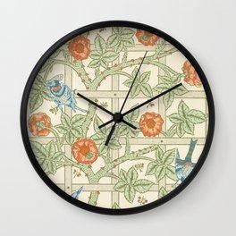 Save Trellis by William Morris (1834-1896). Wall Clock