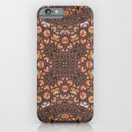 Abalone shell mosaic with a geometric kaleidoscopic design iPhone Case
