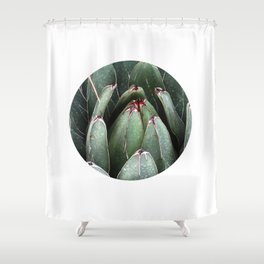 ALOE VERA PLANT ART PHOTO Close Up Plant Leaves Decor Shower Curtain