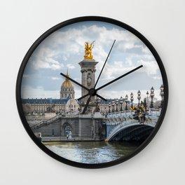 Invalides and Pont Alexandre III  - Paris Wall Clock