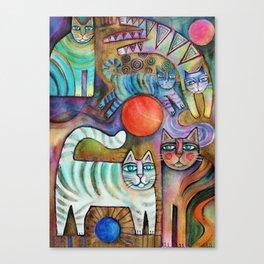Klimt Cats Canvas Print