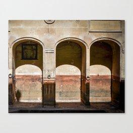 Roman Baths Arches Canvas Print