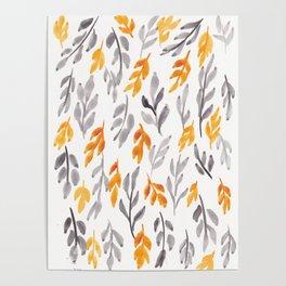 180726 Abstract Leaves Botanical 11 |Botanical Illustrations Poster