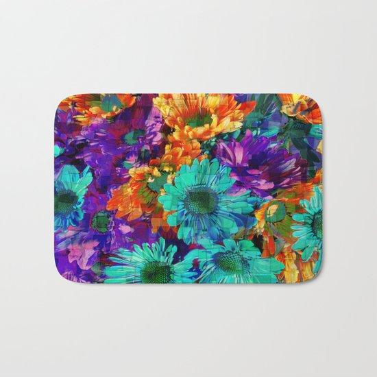 Colored Daisies Bath Mat