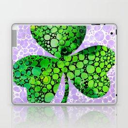 Green Shamrock Art by Sharon Cummings Laptop & iPad Skin