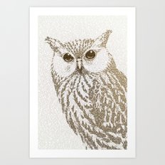 The Intellectual Owl Art Print