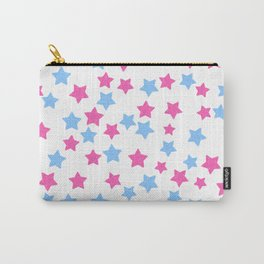 Pink and Blue Stars Carry-All Pouch