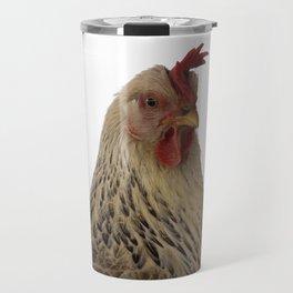 A chicken in the portrait Travel Mug
