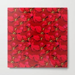 Poinsettia Christmas Metal Print