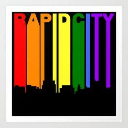 Rapid City South Dakota Gay Pride Skyline Art Print