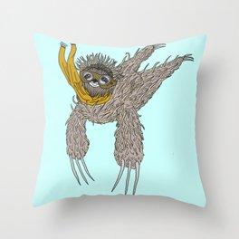 Impulsive Sloth Throw Pillow