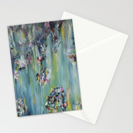 BLOSSOM - abstract expressionist floral painting Stationery Cards