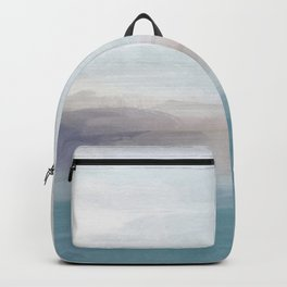 Light Gray, Mauve, Turquoise Aqua Blue Print Modern Wall Art, Abstract Painting Backpack